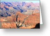 Awe Inspiring Greeting Cards - Grand Canyon 25 Greeting Card by Will Borden
