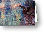 Light And Water Greeting Cards - Grand Canyon A Place To Stand Greeting Card by Bob Christopher