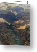 Colorado Framed Prints Greeting Cards - Grand Canyon and River In the Shade Greeting Card by M K  Miller