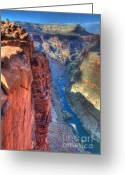 Symphony Greeting Cards - Grand Canyon Awe Inspiring Greeting Card by Bob Christopher