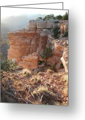 N Taylor Greeting Cards - Grand Canyon Bluff Greeting Card by N Taylor