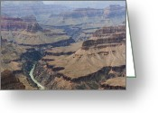 Polyptych Greeting Cards - Grand Canyon Colorado River Page 5 of 8 Greeting Card by Gregory Scott