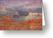Rock Walls Greeting Cards - Grand Canyon Crimson Ridge Greeting Card by Michael Kirsh