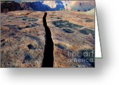 Light And Water Greeting Cards - Grand Canyon Dividing Line Greeting Card by Bob Christopher