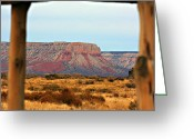Canyon Walls Greeting Cards - Grand Canyon- Framed Greeting Card by Douglas Barnard
