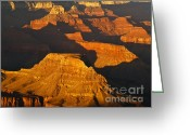 Rock Formations Greeting Cards - Grand Canyon Glow Greeting Card by Alex Cassels