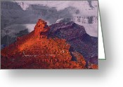 Visual Artist Greeting Cards - Grand Canyon in Red and Blue Greeting Card by Viktor Savchenko
