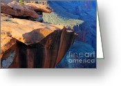 Light And Water Greeting Cards - Grand Canyon Into Space Greeting Card by Bob Christopher