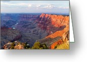 Over Greeting Cards - Grand Canyon National Park, Arizona Greeting Card by Javier Hueso
