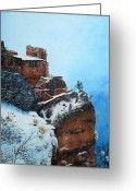 Photorealism Greeting Cards - Grand Canyon Overlook Greeting Card by Mike Ivey
