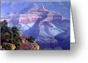Four Corners Greeting Cards - Grand Canyon Greeting Card by Randy Follis