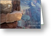 Light And Water Greeting Cards - Grand Canyon Raw Nature Greeting Card by Bob Christopher