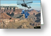 Canyon Greeting Cards - Grand Canyon Greeting Card by Scott Listfield