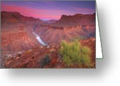 Famous Greeting Cards - Grand Canyon Sunrise Greeting Card by David Kiene