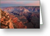 Colors Photo Greeting Cards - Grand Canyon Sunrise Greeting Card by Pierre Leclerc