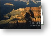 Light And Water Greeting Cards - Grand Canyon Symphony Of Light And Shadow Greeting Card by Bob Christopher