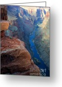 Light And Water Greeting Cards - Grand Canyon Toroweap Greeting Card by Bob Christopher