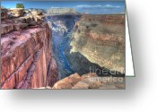 Light And Water Greeting Cards - Grand Canyon Toroweap Vista Greeting Card by Bob Christopher