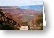 Farms Greeting Cards - Grand Canyon with Smoke Greeting Card by The Kepharts