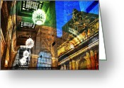 Skip Hunt Digital Art Greeting Cards - Grand Central Greeting Card by Skip Hunt