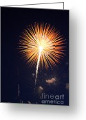 Fire Works Greeting Cards - Grand Haven Mi fireworks 2 Greeting Card by Robert Pearson