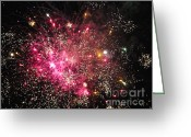 Fire Works Greeting Cards - Grand Haven Mi fireworks 3 Greeting Card by Robert Pearson