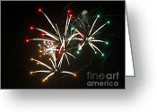 Fire Works Greeting Cards - Grand Haven Mi fireworks 5 Greeting Card by Robert Pearson