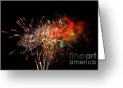 Fire Works Greeting Cards - Grand Haven Mi fireworks Greeting Card by Robert Pearson