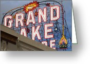 Theatres Greeting Cards - Grand Lake Theatre . Oakland California . 7D13495 Greeting Card by Wingsdomain Art and Photography