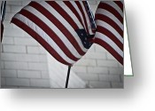 Fifty Stars Greeting Cards - Grand Old Flag Greeting Card by Stephanie Tso