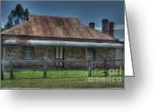Old Country Roads Greeting Cards - Grand old Home Greeting Card by Josephine Caruana