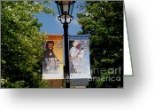 Nashville Greeting Cards - Grand Ole Opry Flags Nashville Greeting Card by Susanne Van Hulst
