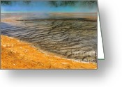 Prismatic Greeting Cards - Grand Prismatic Runoff Greeting Card by Sandra Bronstein