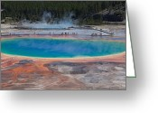 Prismatic Greeting Cards - Grand Prismatic Spring Greeting Card by Ralf Kaiser