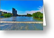 Lake Photographs Greeting Cards - Grand Rapids Mi- 8 Greeting Card by Robert Pearson
