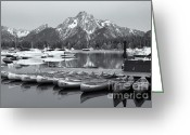 Grand Tetons National Park Greeting Cards - Grand Teton Dawn IV Greeting Card by Clarence Holmes