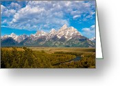 High Resolution Greeting Cards - Grand Teton Vista Greeting Card by Adam Pender