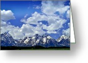 Grand Tetons National Park Greeting Cards - Grand Tetons Greeting Card by Ellen Lacey