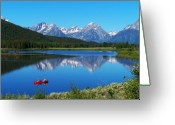 National Digital Art Greeting Cards - Grand Tetons Greeting Card by Vijay Sharon Govender