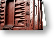Train Car Greeting Cards - Grand Trunk Western Track Foremans Bunk Car Greeting Card by Scott Hovind