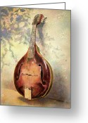 Musical Greeting Cards - Grandaddys Mandolin Greeting Card by Andrew King