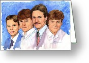 Cousins Greeting Cards - Grandchildren Greeting Card by John D Benson