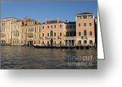 Italia Greeting Cards - Grande canal. Venice Greeting Card by Bernard Jaubert