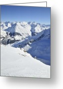 Snowy Range Greeting Cards - Grande Sassiere and Petite Sassiere Greeting Card by Andy Smy