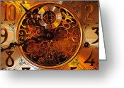 Minute Greeting Cards - Grandfather Time Greeting Card by Robert Harmon