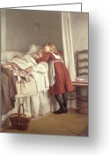 Elderly Painting Greeting Cards - Grandfathers Little Nurse Greeting Card by James Hayllar