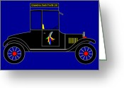 Asbjorn Lonvig Greeting Cards - Grandma Duck Fruits Ltd - Virtual Car Greeting Card by Asbjorn Lonvig
