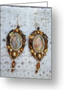 Earrings Jewelry Greeting Cards - Grandma gift Greeting Card by Anastasia Michaels