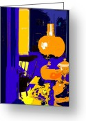 Oil Lamp Greeting Cards - Grandma Greeting Card by Ian  MacDonald