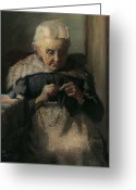 Pioneers Greeting Cards - Grandma Greeting Card by Lewis A Ramsey